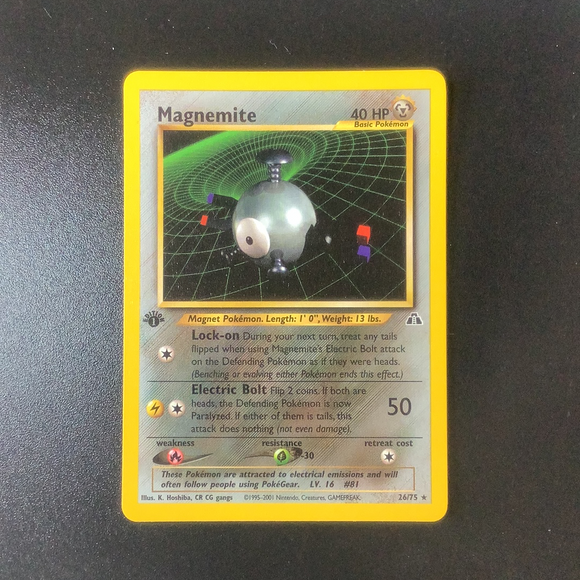 Pokemon Neo Discovery - Magnemite (1st Edition) - 026/75 - As New Rare card