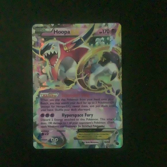 Pokemon XY Ancient Origins - Hoopa EX - 036/98-10002 - Used Holo Rare card