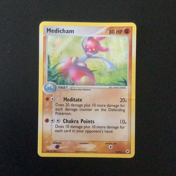 Pokemon EX Hidden Legends - Medicham - 010/101-011571 - New Holo Rare card