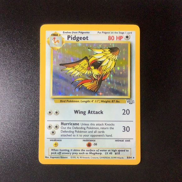 Pokemon Jungle - Pidgeot - 008/64 - Used Holo Rare card