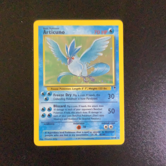 Pokemon Legendary Collection - Articuno - 002/110-011416 - New Holo Rare card