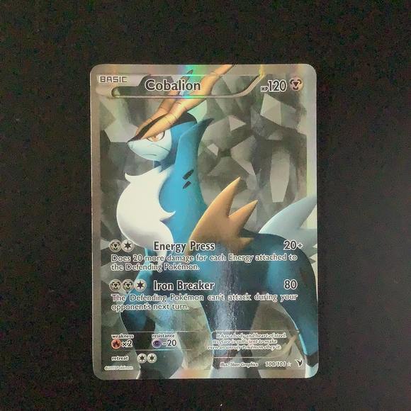 Pokemon Noble Victories - Cobalion - 100/101 - As New  Holo Rare card