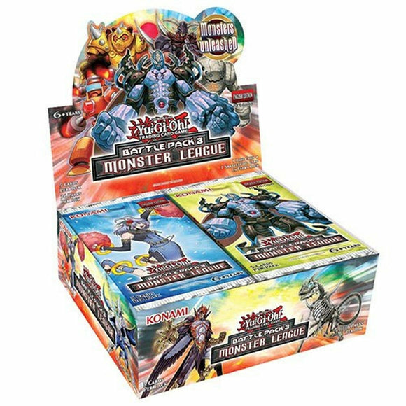 Yu-Gi-Oh FACTORY SEALED Booster Box - Battle Pack 3 Monster League