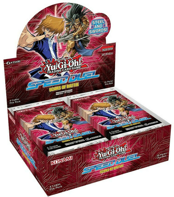 Yu-Gi-Oh FACTORY SEALED Booster Box - SPEED DUEL Scars of Battle