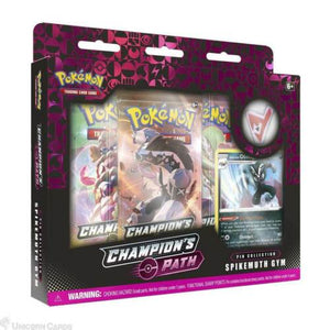 Pokemon Champions Path Pin Collection - Spikemuth Gym - Collectors Box *LIMIT 1*