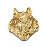 Bague Loup Or Face