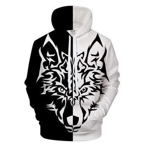 Sweat Shirt Motif Loup