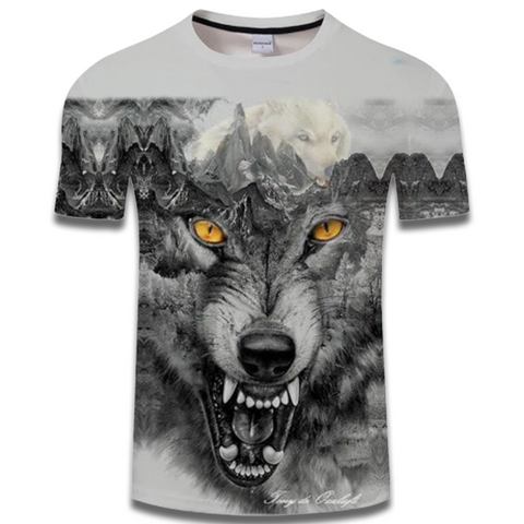 T Shirt Loup Homme Hurlant