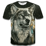 T Shirt Loup Indien Homme