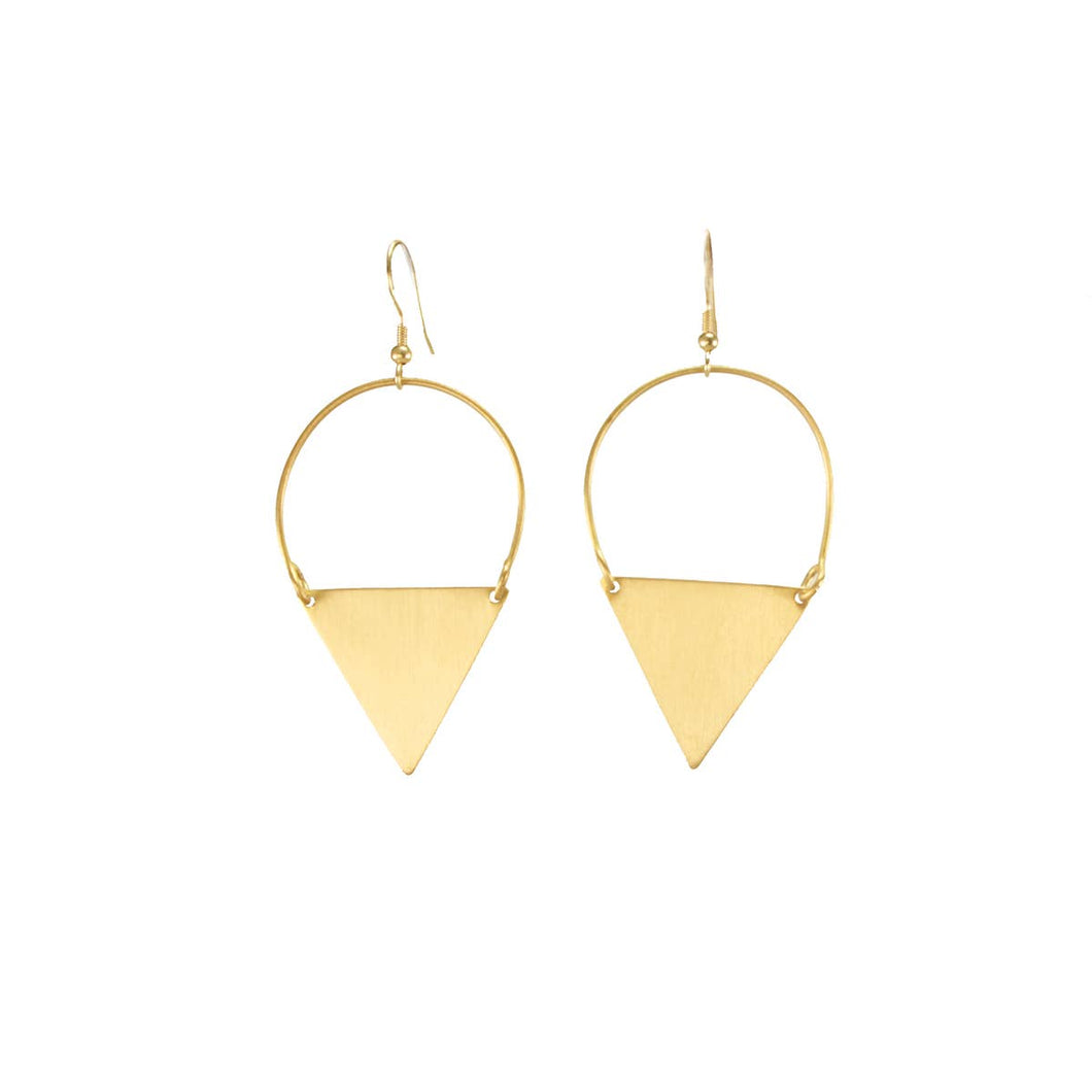 Peaked Sphere Earrings -Gold