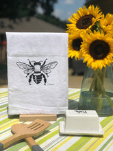 Load image into Gallery viewer, Honey Bee Flour Sack Tea Towel