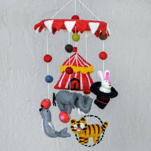 Hand Felted Mobile -Circus
