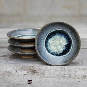 Geode Glass Bowl  - Grey