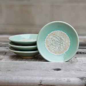 Geode Glass Bowl  - Seafoam