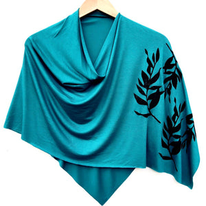 Laurel Poncho Teal with Black