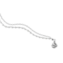 Load image into Gallery viewer, Double Strand Bracelet with Cultured Freshwater Pearls and Bird Charm