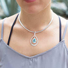 Load image into Gallery viewer, Pear Shape Pendant with Blue Topaz Drop