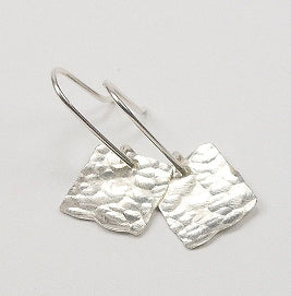 Hammered Squares Earrings