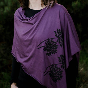 Allium Poncho Plum with Black