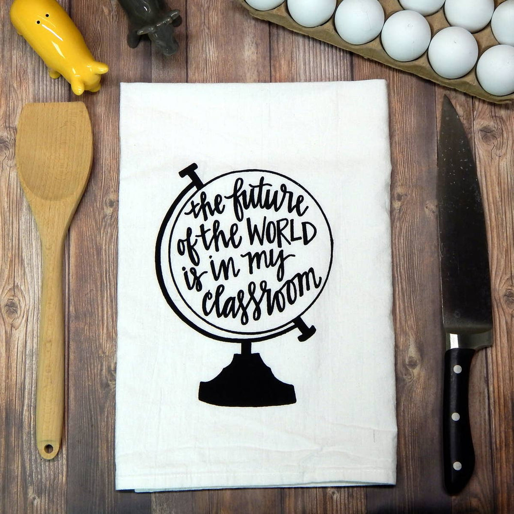 Teacher Flour Sack Tea Towel