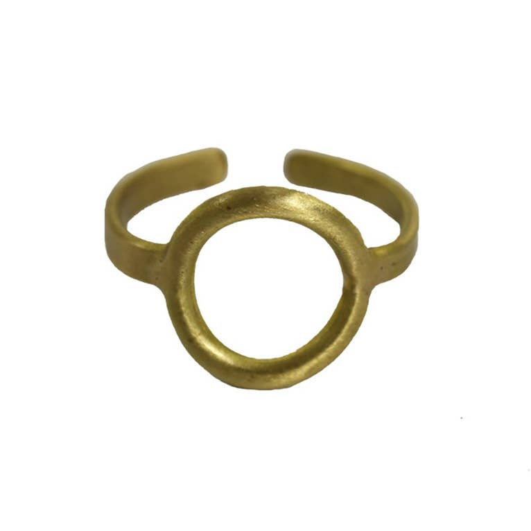 Petite Circle Ring -Gold
