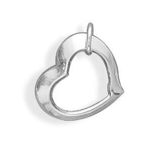 Floating Heart Charm