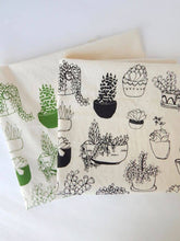 Load image into Gallery viewer, Succulents Kitchen Towel, Tea Towel