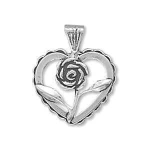 Heart with Rose Charm
