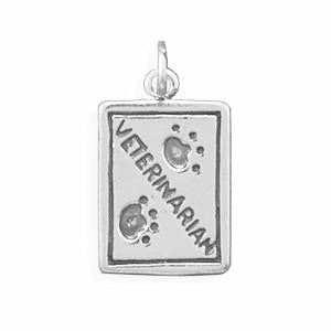 Oxidized Veterinarian Charm