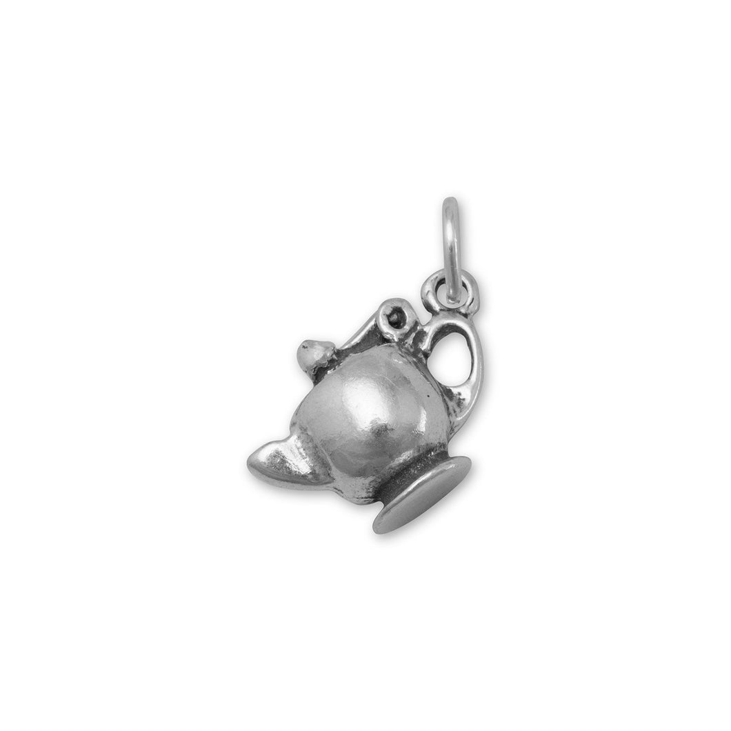 Oxidized Tea Pot Charm