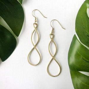 Double Helix Earrings -Gold