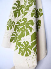 Load image into Gallery viewer, Monstera Plant Kitchen Towel, Tea Towel