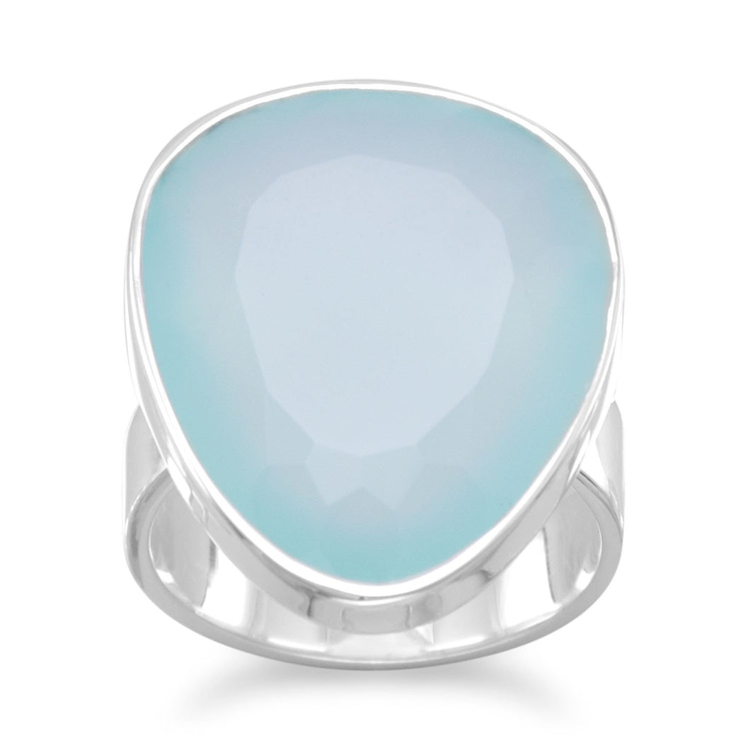 Free Form Sea Green Chalcedony Ring