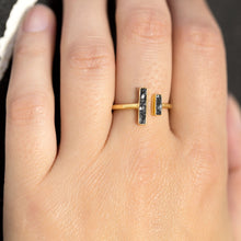 Load image into Gallery viewer, 14 Karat Gold Plated and Diamond Chip Ring