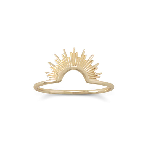 Shine On Gold Vermeil Sunburst Ring