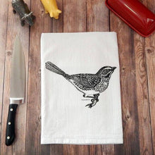 Load image into Gallery viewer, Bird Lover Flour Sack Tea Towel