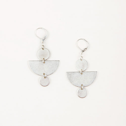 Half Moon & Disc Earrings