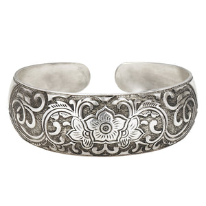 Floral Domed Cuff