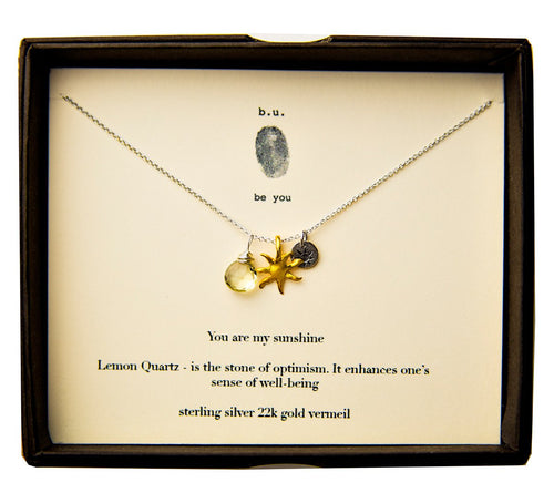 You Are My Sunshine Multi Charm Necklace