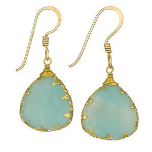 Amazonite Brass Drops