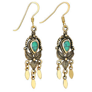 Turquoise Bronze Dangle