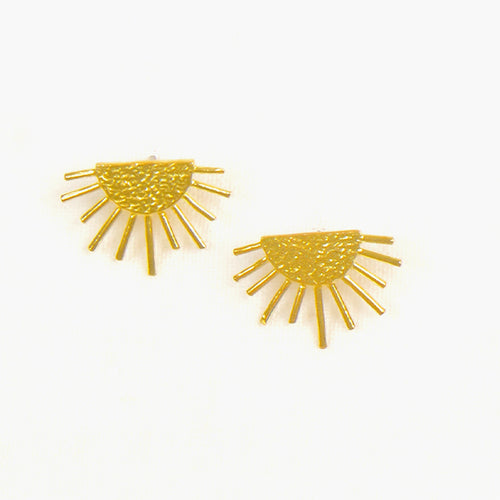 Sun Ray Post Earring Gold
