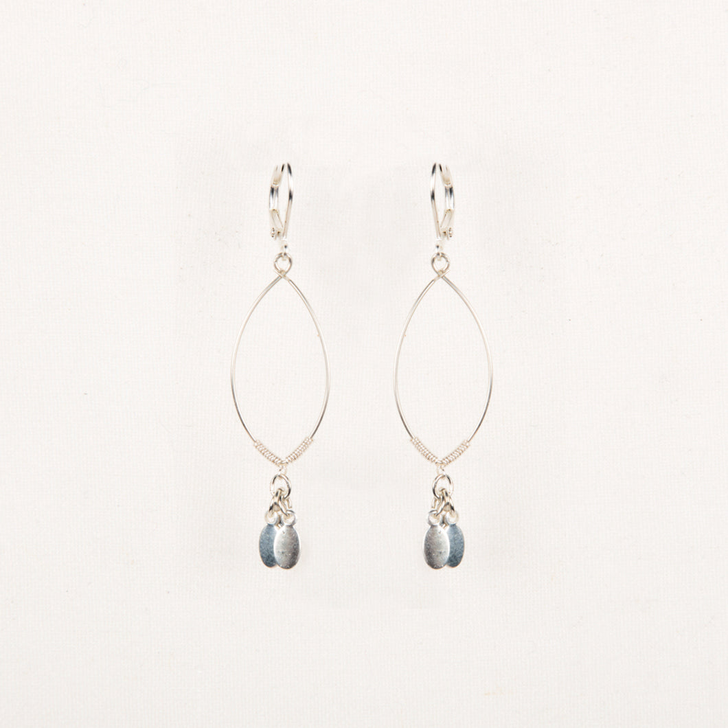 Dangle Oval Earring Silver