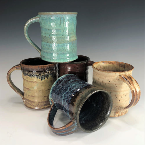 Hand Thrown Pottery Mug - Multiple Glazes