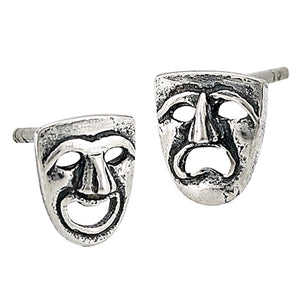 Comedy/Tragedy Stud Earring