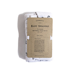 Organic Cotton Swaddle Blanket- Letter to Sophie