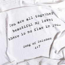 Load image into Gallery viewer, Organic Cotton Swaddle Blanket- Song Of Solomon