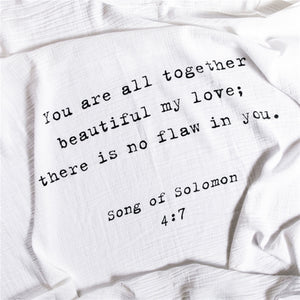 Organic Cotton Swaddle Blanket- Song Of Solomon