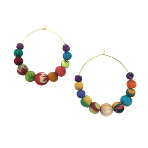 Kantha Graduated Hoops