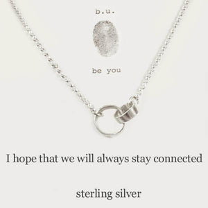 I Hope We Will Always Stay Connected Necklace
